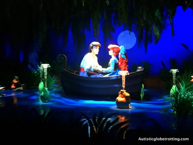 Disneyland's Top Indoor Autism Friendly Rides and Attractions te little mermaid ride