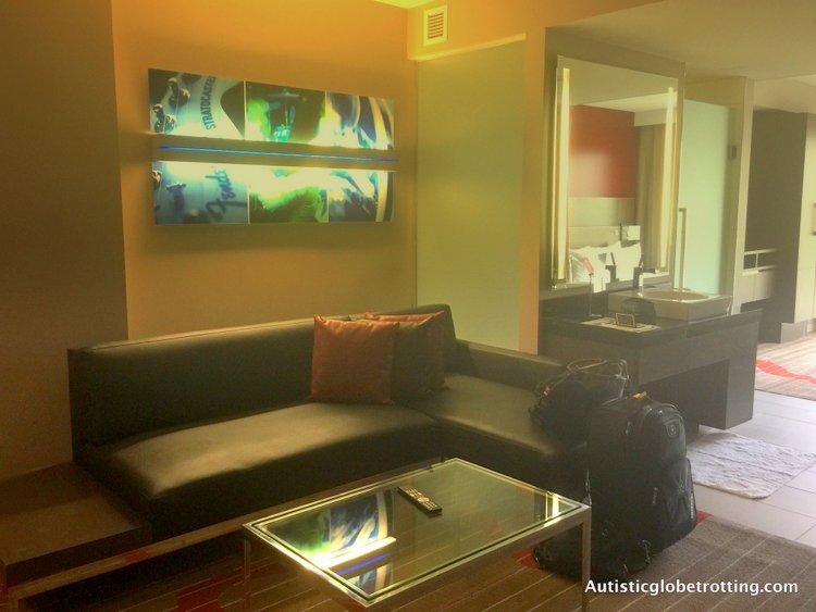 Luxury Stay at the Hard Rock Hotel San Diego sofa