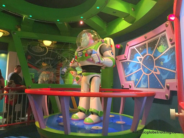 Disneyland's Top Indoor Autism Friendly Rides and Attractions buzz lightyears astro attraction