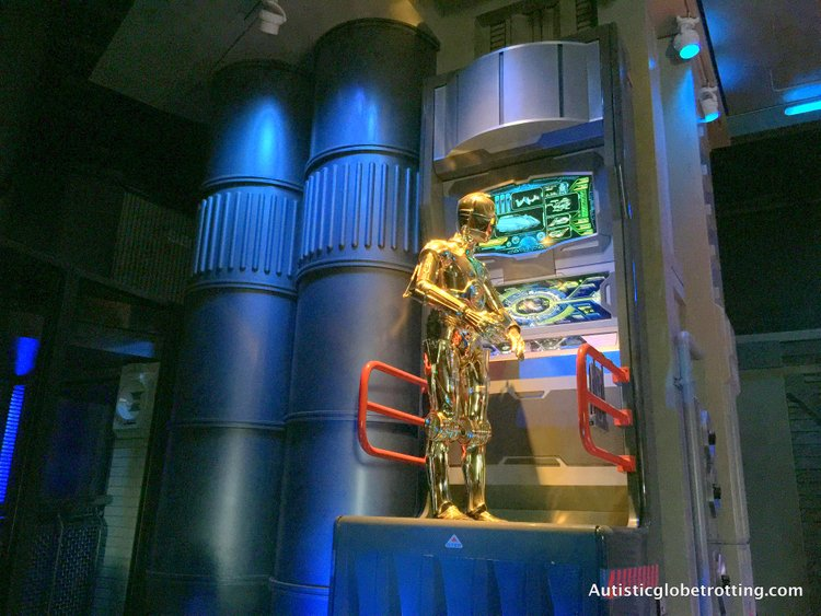 Eight Best Disneyland Thrill Rides for Kids with Autism star wars c3po