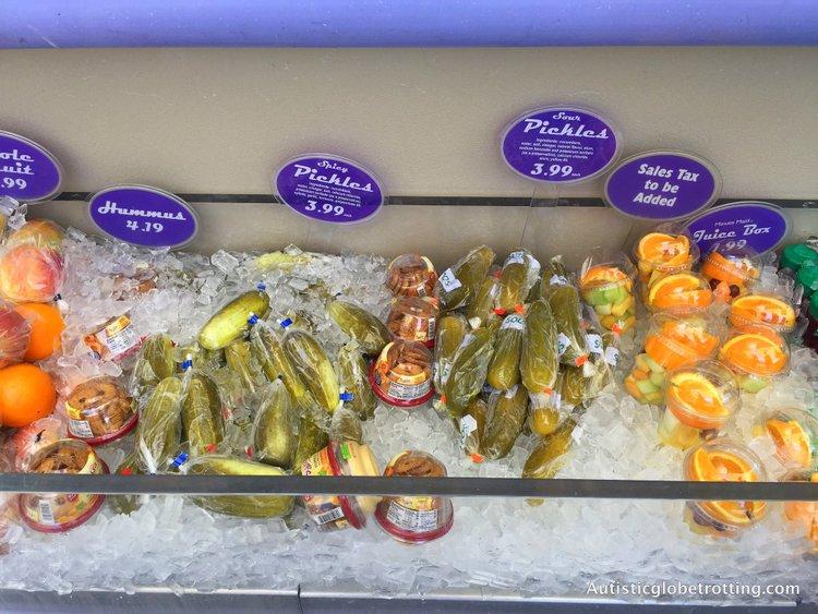 Ten Must Try Disneyland Snacks big pickles wrapped