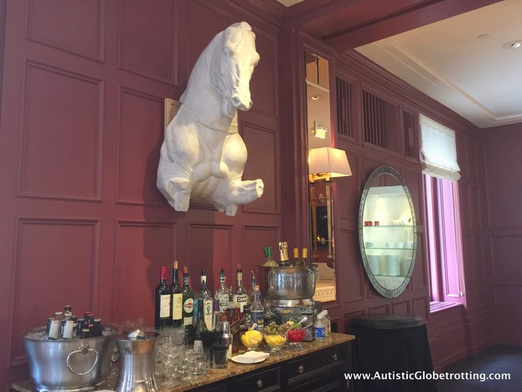 Finding Nirvana at The Mark Hopkins Hotel Lounge horse