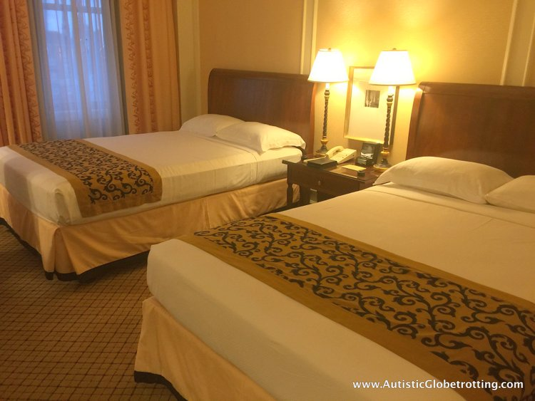 Another thing that amazed me was the immaculately clean room. the room beds