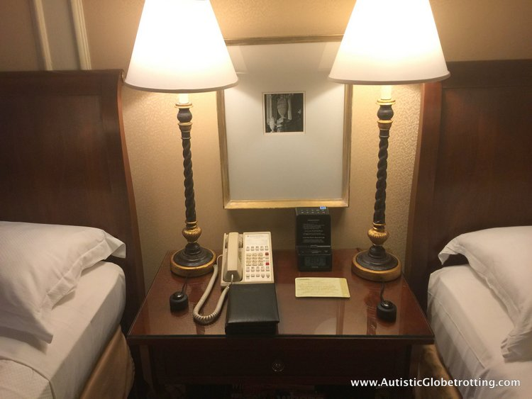 Another thing that amazed me was the immaculately clean room. amenities