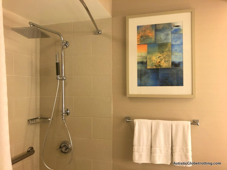Our Family Friendly stay at the Westin San Francisco Airport Hotel shower
