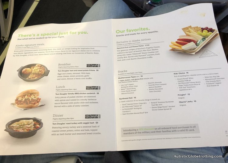 Alaska Airlines Exceeds Expectations Despite a 2 Hour Delay alaska airlines food options to order