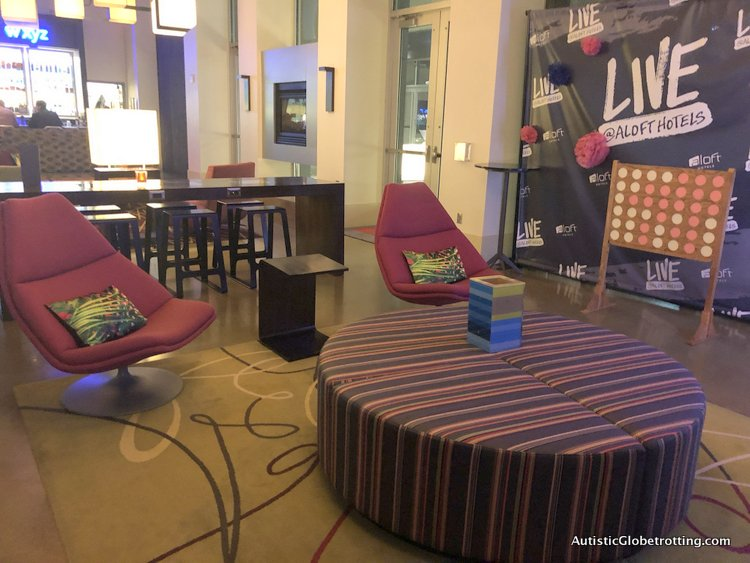 Family Fun Stay at the Aloft San Francisco Airport lobby decor