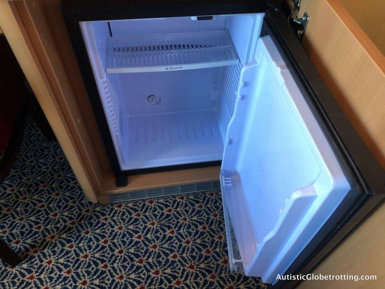 Is aDisney Dream Deluxe Family Oceanview Stateroom worth the splurge? fridge in cabin