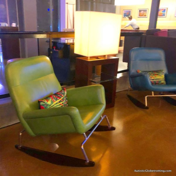 Family Fun Stay at the Aloft San Francisco Airport rocking chairs for sensory issues