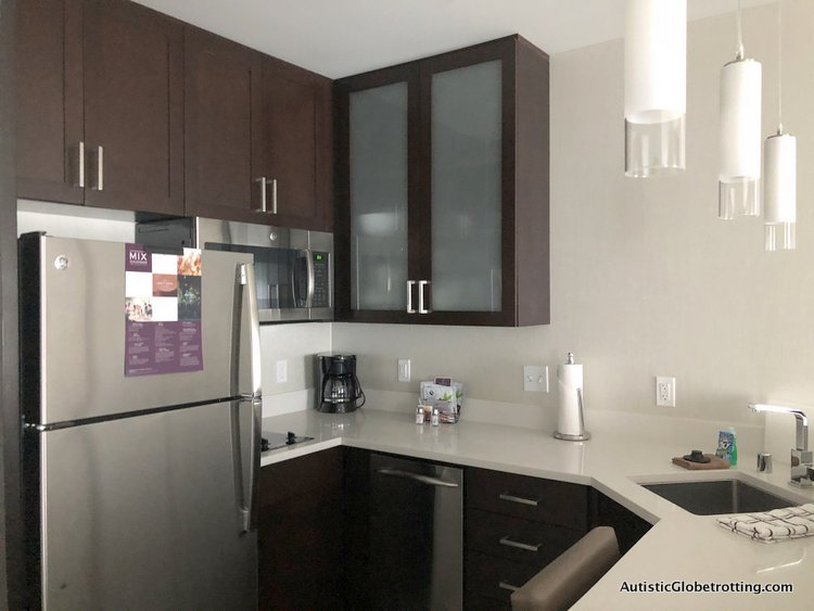 Residence Inn San Jose Cupertino caters to Autism Families kitchenette