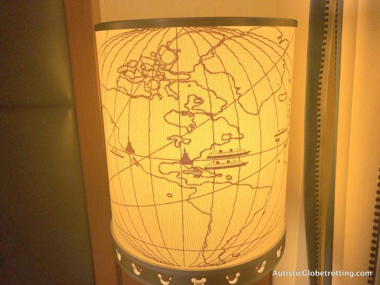 disney deluxe family oceanviewstateroom with verandah lamp shades decor