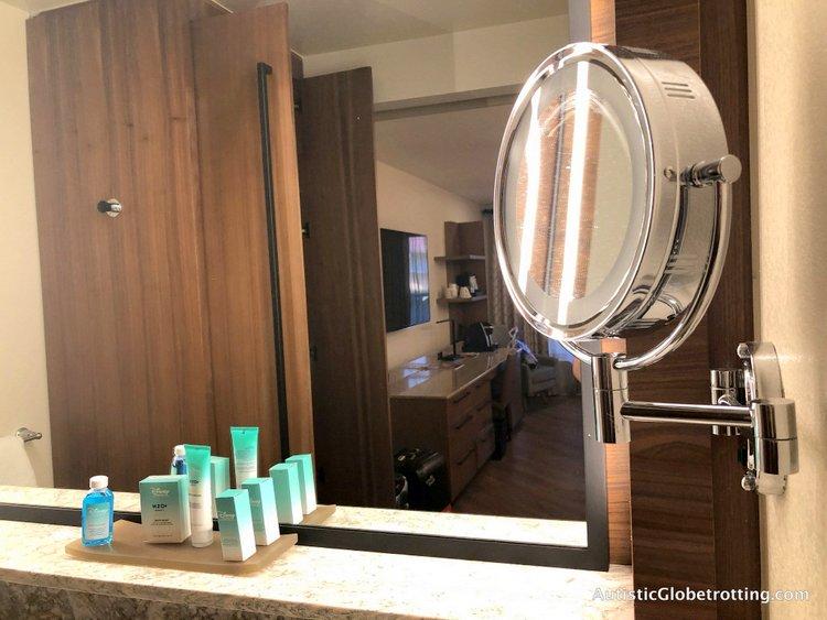 Disney Coronado Springs Resort Tips for Families close up mirror