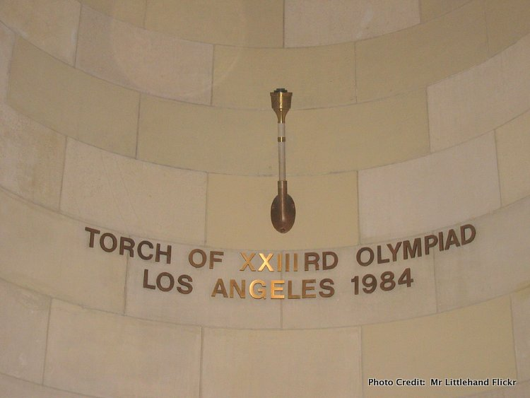 LA's olympic torch