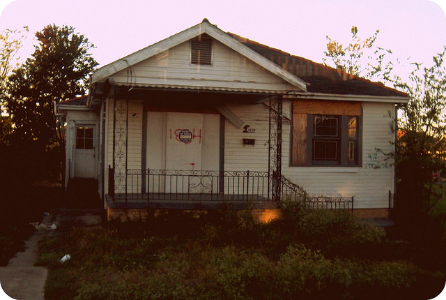 Visiting New Orlean's Lower Ninth Ward BOARDED HOUSE