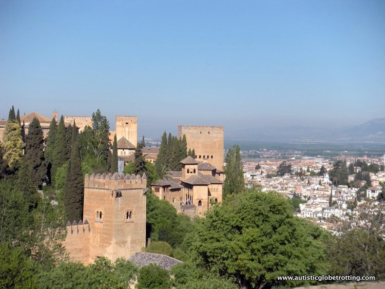Visiting the Alhambra Palace with Family landscape