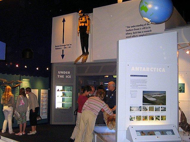 Family Fun at the International Antarctic Centre exhibit