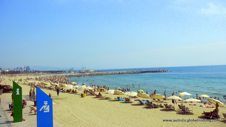 Staying with Kids at the Le Meridien Barcelona beach