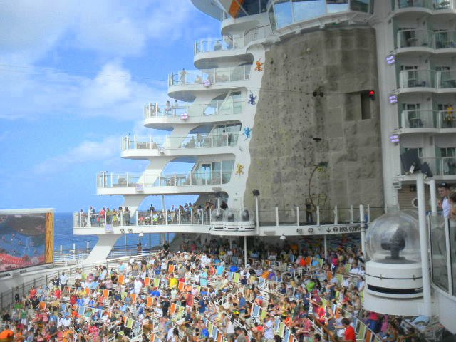Family Cruise aboard Allure of the Seas rock