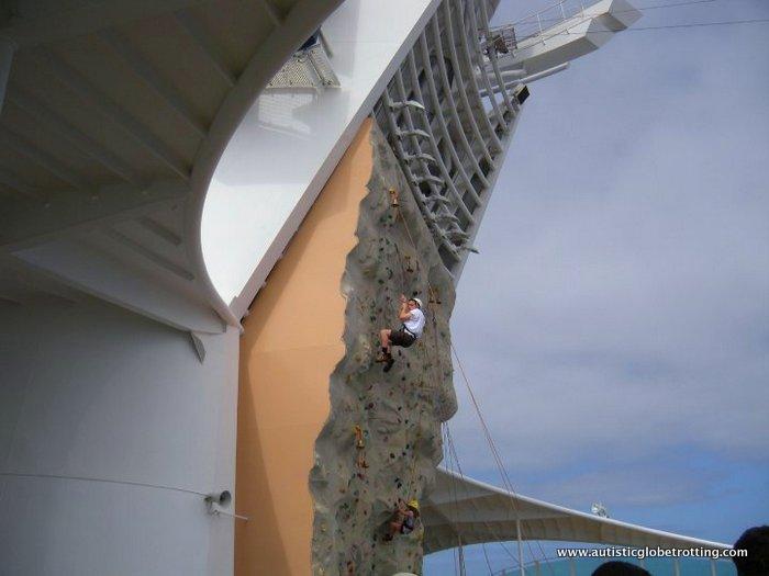 Family Friendly Cruising Aboard Mariner of the Sea climb