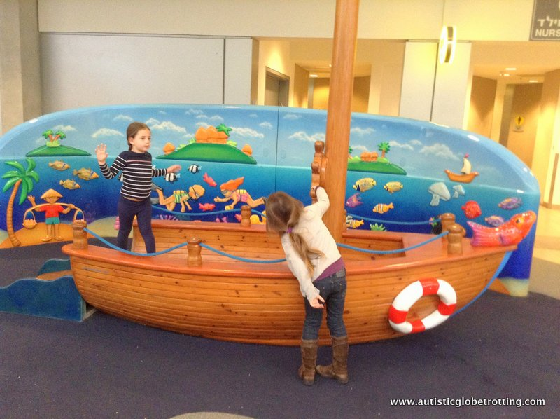 Israel's Ben Gurion Airport with Kids play area