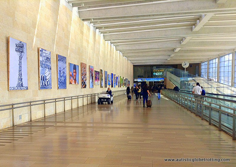 Israel's Ben Gurion Airport with Kids hall