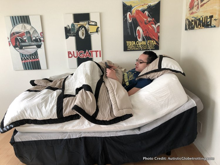 the sitnsleep adjustable frame makes a diffrenece when living with autism
