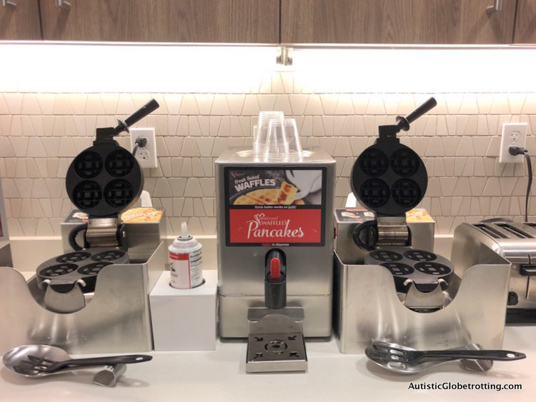 Residence Inn San Jose Cupertino caters to Autism Families make your own waffle machine