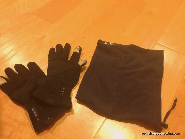 Clothing tips when traveling with autism clogs mittens