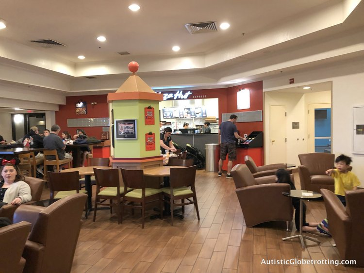 Family Friendly Fairfield Inn Anaheim pizza hut on third floor