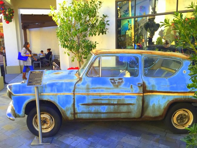 Exploring the Wizarding World of Harry Potter at Hollywood's Universal Studios car