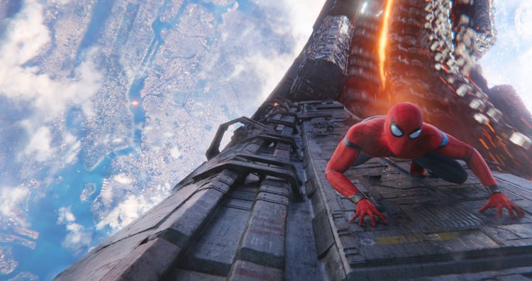Avengers: 'Infinity War' Top Ten Parental Concerns Answered spiderman flying in action