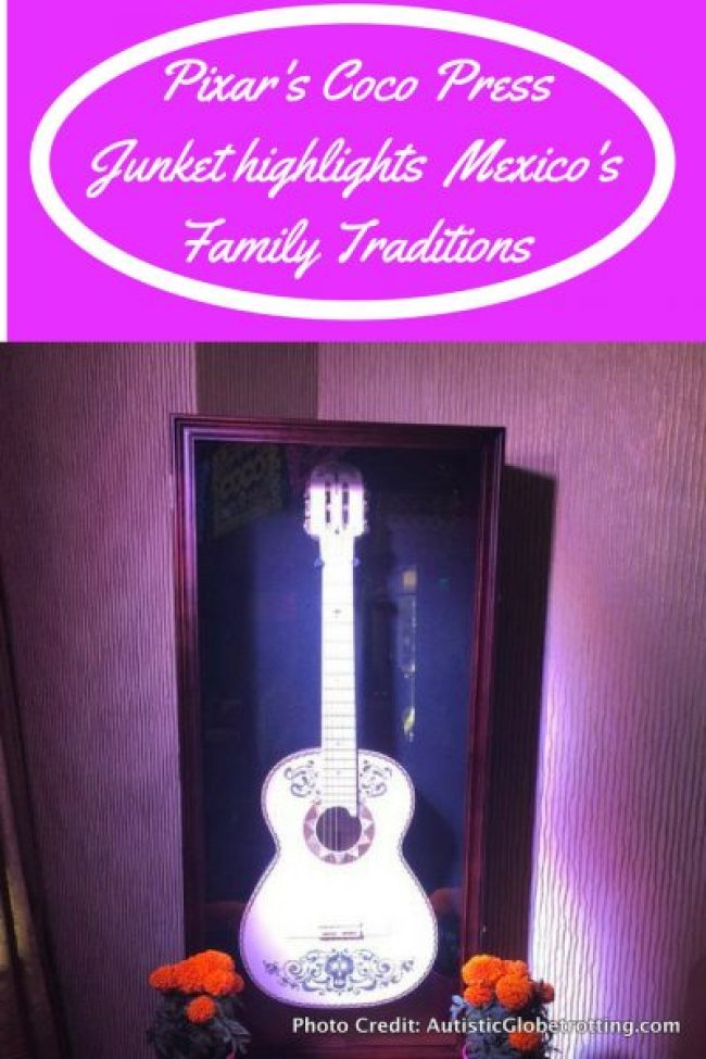 Pixar's Coco Press Junket highlights Mexico's Family Traditions pin