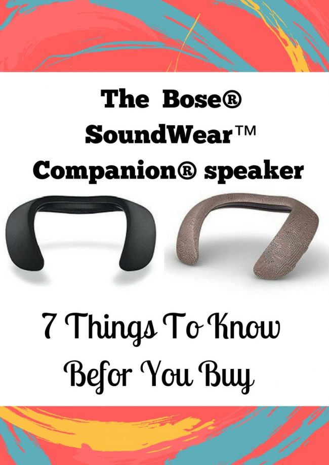 The  Bose® SoundWear™ Companion® speaker : 7 Things To Know
