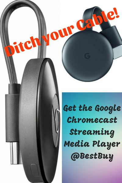 Ditch Your Cable !Get the Google Chromecast Streaming Media Player @BestBuy pin