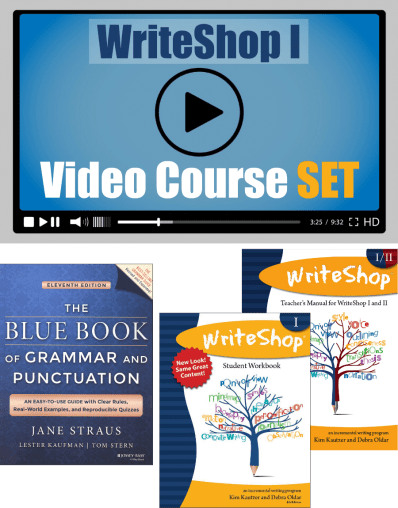 Want Writeshop as you writing curriculum but need help? Try using the video course option!