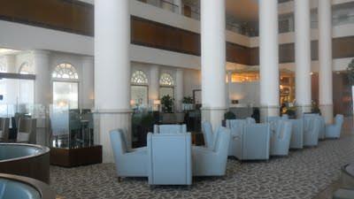 The Family Friendly David Intercontinental Tel Aviv lobby seats