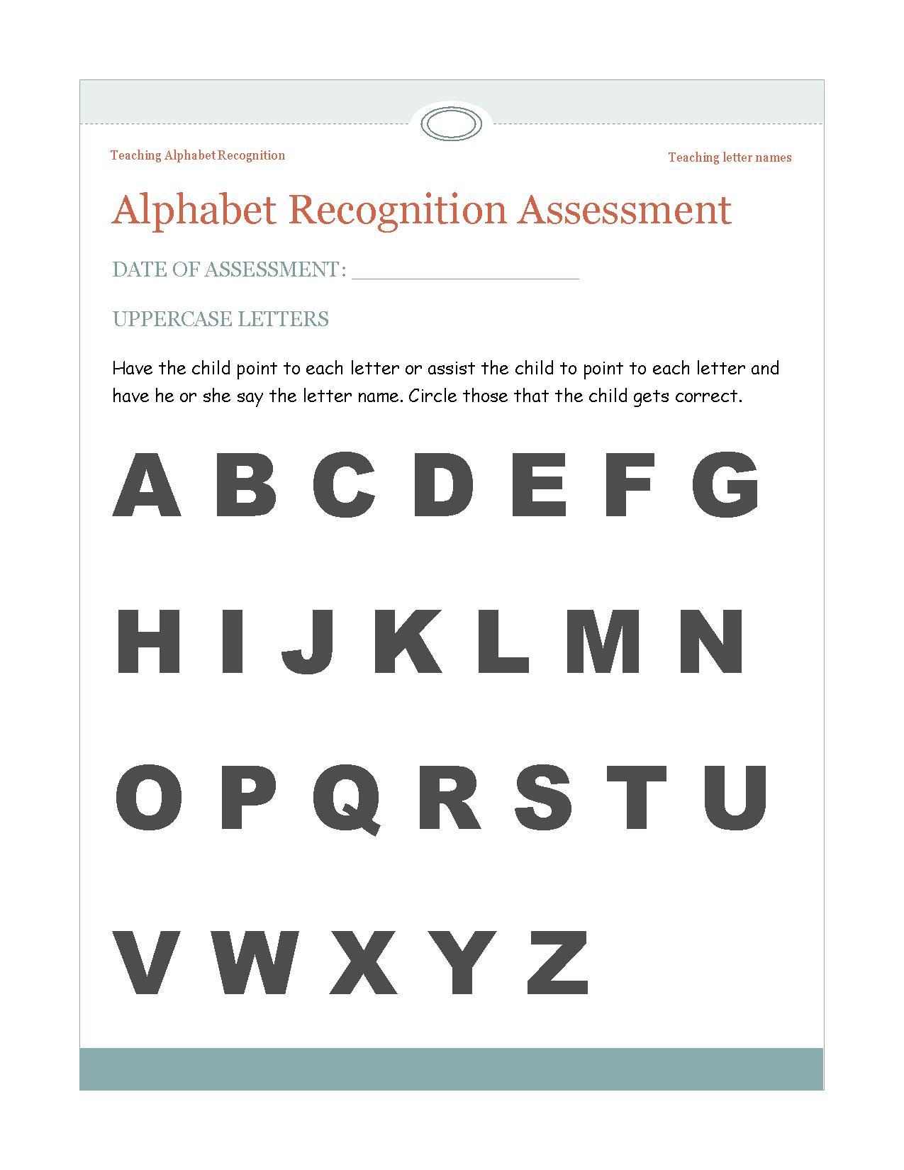 Teaching Alphabet Recognition