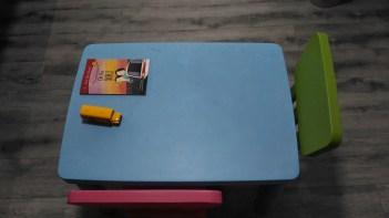 Our table arrangement now