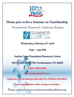 Winter Seminar Series: February: Guardianship @ ACF Resources Center | Southampton | Pennsylvania | United States