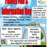 North Lancashire Directions Group – FREE Parent Carer Information and Fun Day