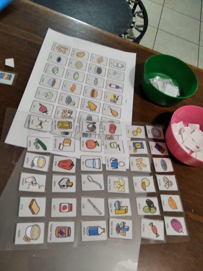 כרטיסיות תקשורת להדפסה אוכל