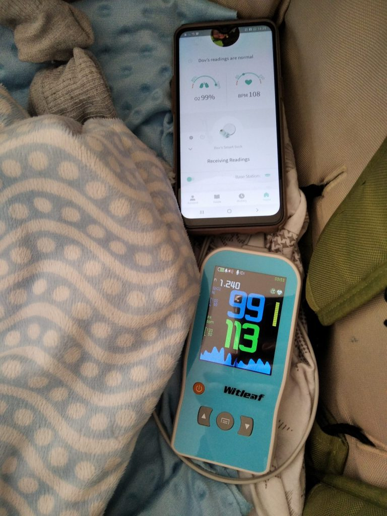 Two seizure monitoring devices side by side