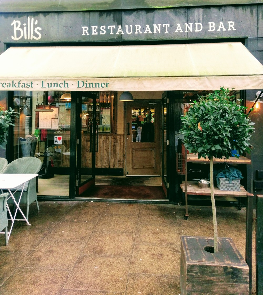 A picture of the outside of a restaurant called Bill's.