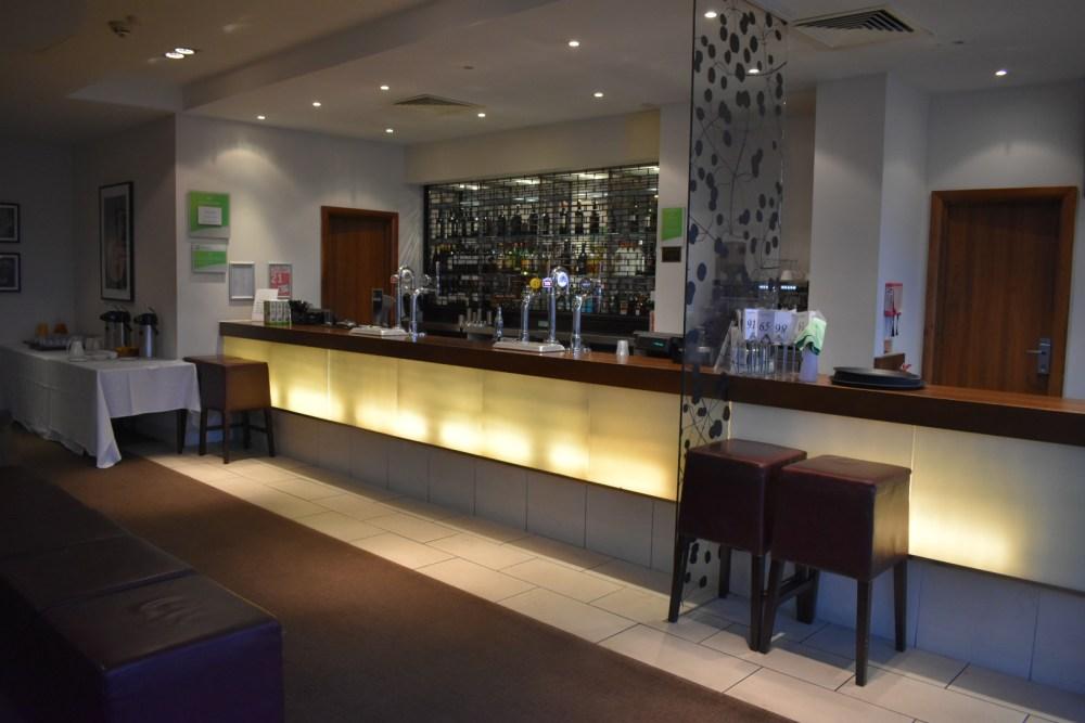 A nice looking bar area