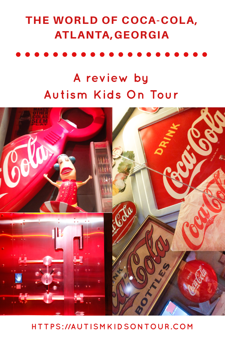 A review of the world of Coca-Cola in Atlanta,Georgia. Includes information on taking an autistic child. By autism kids on tour.
