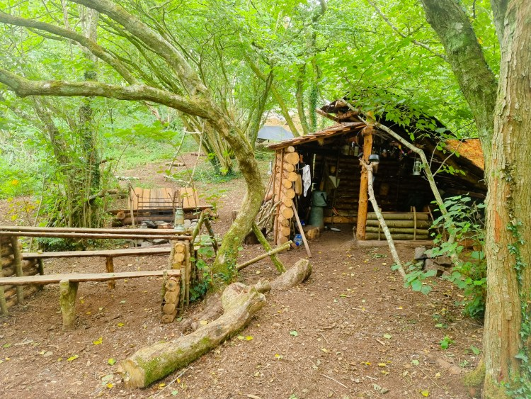 The bushcraft area at finnebrogue woods