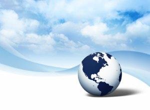 World Globe Image in Sky