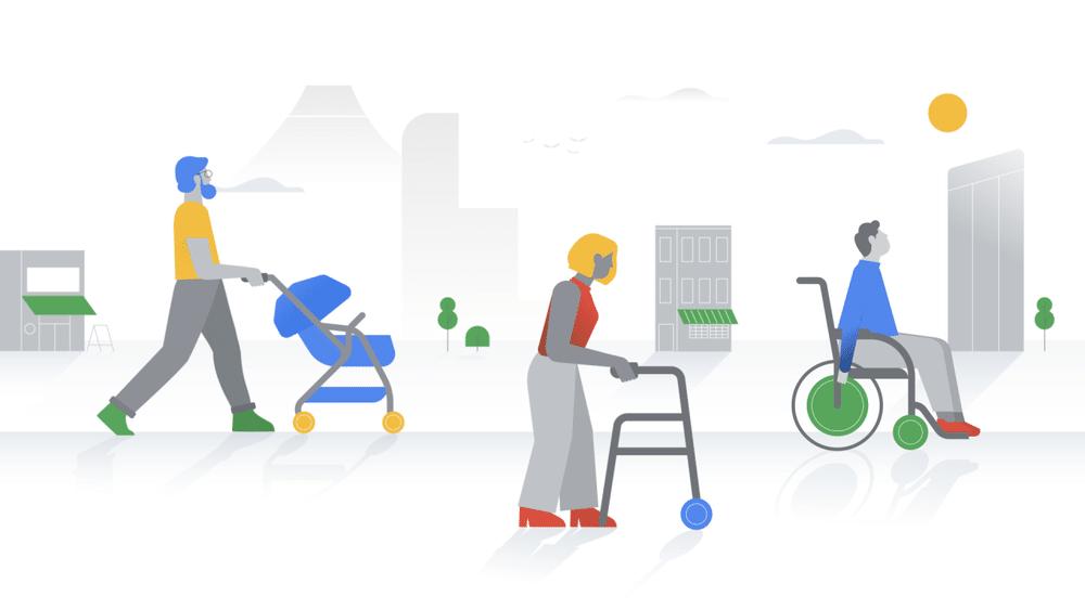 lugares accesibles para sillas de ruedas con Google