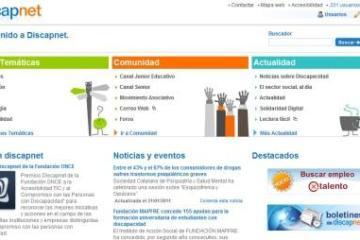Portal Discapnet al servicio de las personas con discapacidad.