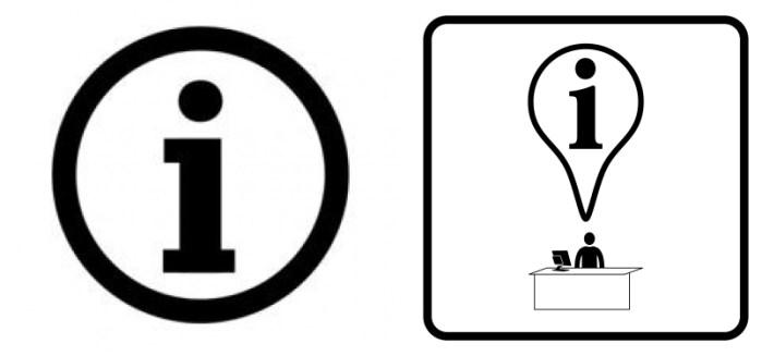 Información con señalética estándar y adaptada